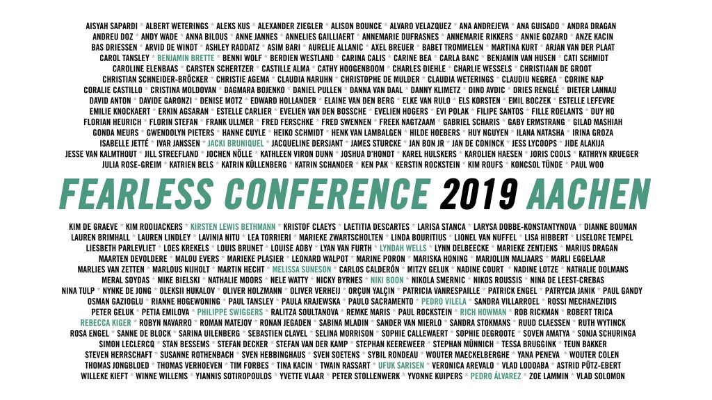 Fearless Conference 2019 partecipanti e speackers