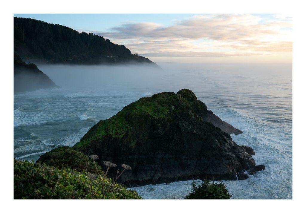 L'oceano pacifico si incontra con le foreste dell'Oregon