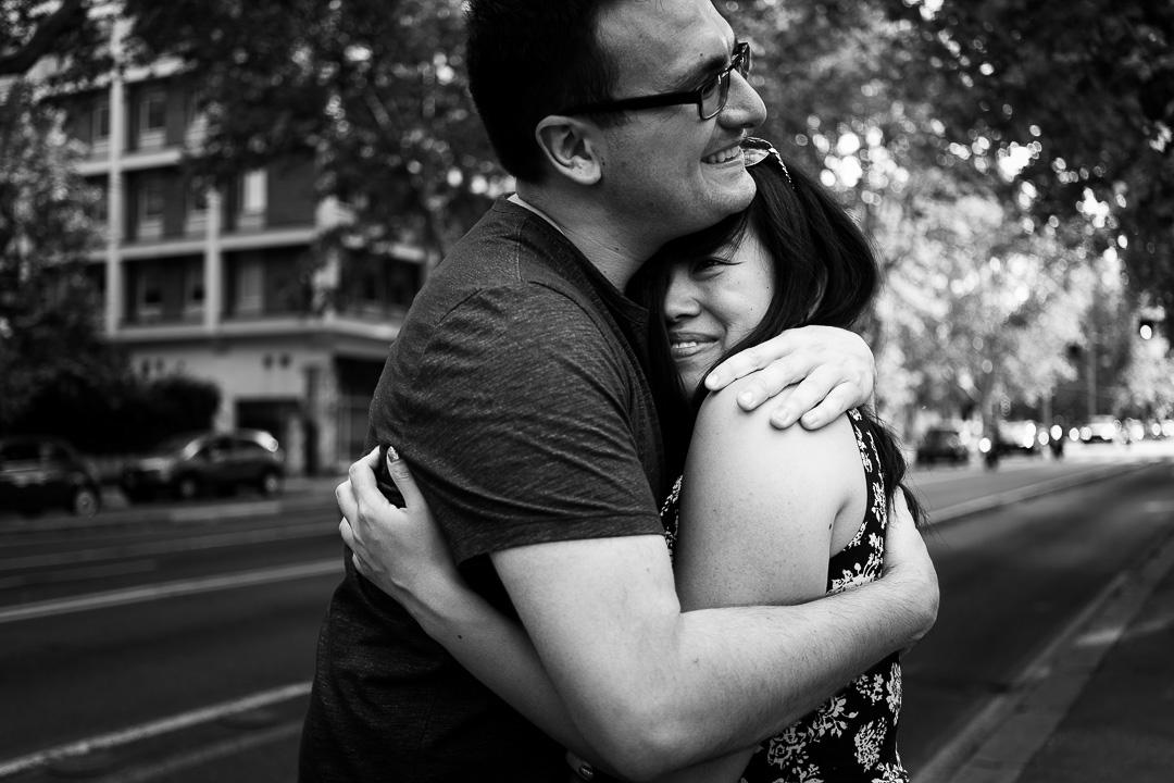 vacanze romane per una giovane coppia di innamorati canadese
